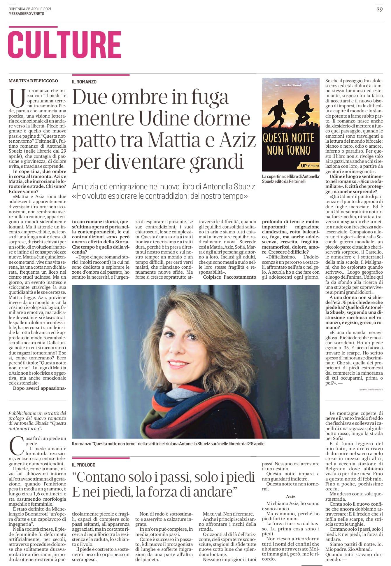 Questa notte non torno: dialogo con Martina Delpiccolo